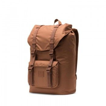 Mochila Herschel Little America Mid Vol. (17L) - Light Saddle Brown