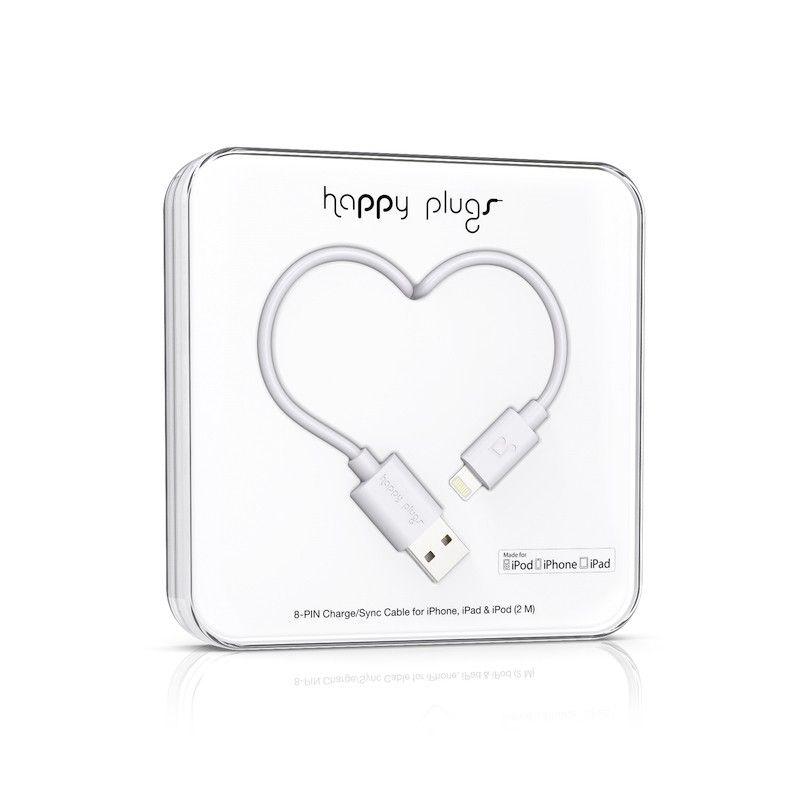 Cabo Happy Plugs Lightning para USB (2.0m) - Branco