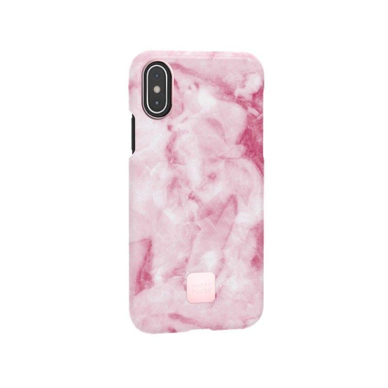 Capa para iPhone XS Happy Plugs - Pink Marble
