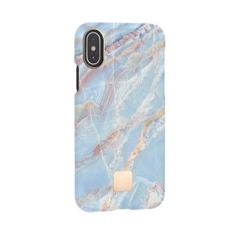 Capa para iPhone XS Happy Plugs - Blue Quartz
