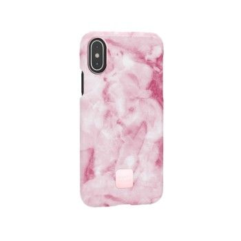 Capa para iPhone XS Happy Plugs - Pink Marble