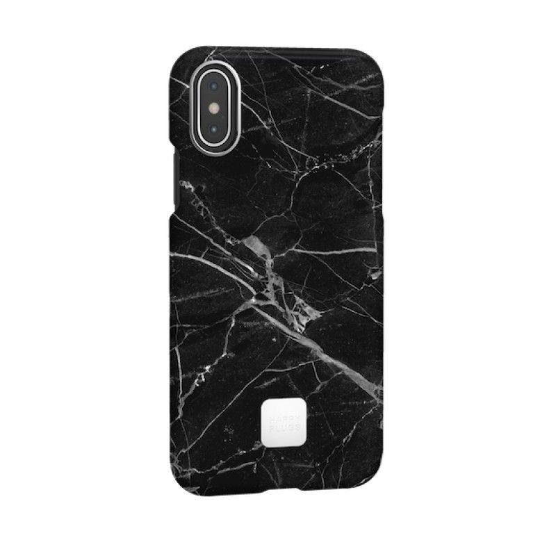 Capa para iPhone XS Happy Plugs - Black Marble