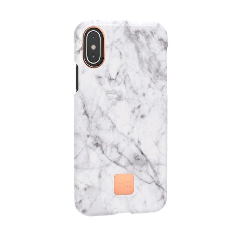 Capa para iPhone XS Happy Plugs - White Marble