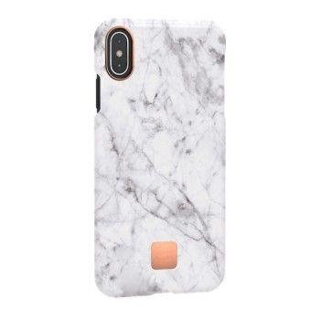 Capa para iPhone XS Max Happy Plugs - White Marble