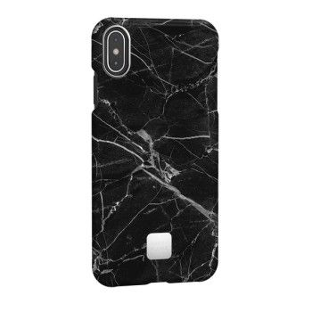 Capa para iPhone XS Max Happy Plugs - Black Marble
