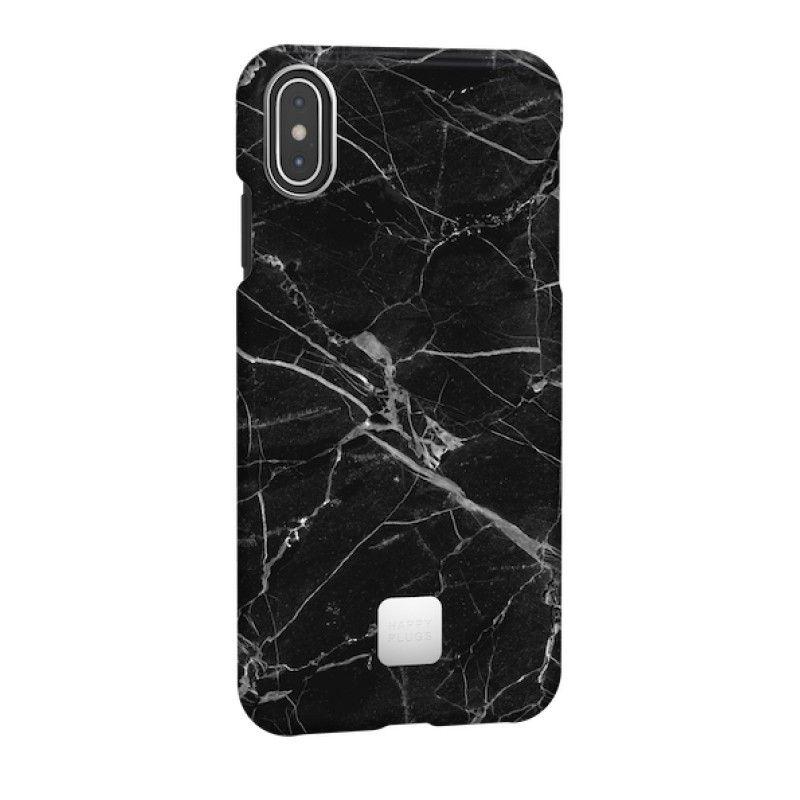 Capa para iPhone XS Max Happy Plugs - Black Marble