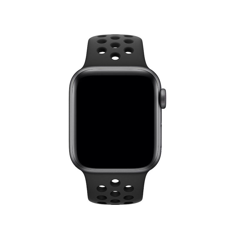 Bracelete desportiva Nike para Apple Watch (40/38 mm) S/M & M/L - Antracite/Preto