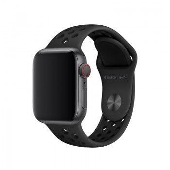 Bracelete desportiva Nike para Apple Watch (40/38 mm) S/M & M/L - Antracite/Preto