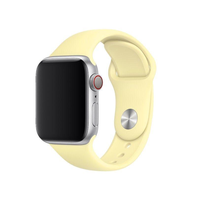 Bracelete desportiva para Apple Watch (40/38 mm) S/M & M/L - Amarelo-suave
