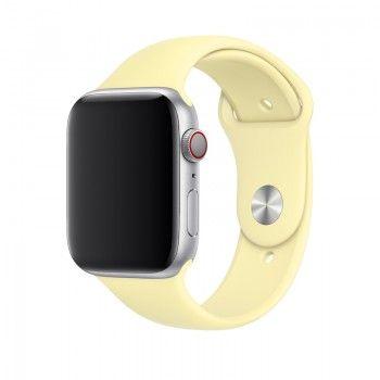 Bracelete desportiva para Apple Watch (44/42 mm) S/M & M/L - Amarelo-suave