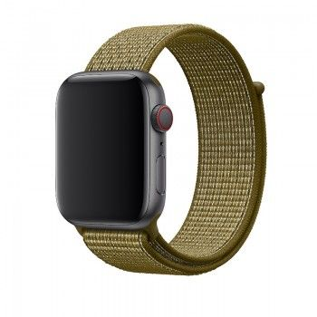 Bracelete Loop desportiva Nike para Apple Watch (44/42 mm) - Verde-oliva