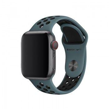 Bracelete desportiva Nike para Apple Watch (40/38 mm) S/M & M/L - Turquesa claro/preto