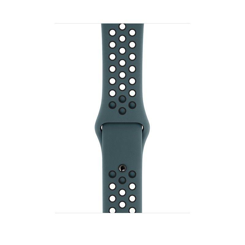 Bracelete desportiva Nike para Apple Watch (44/42 mm) S/M & M/L - Turquesa claro/preto