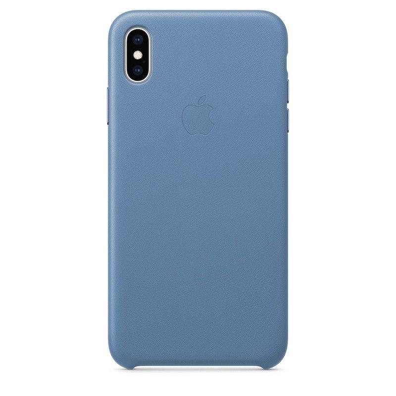 Capa para iPhone XS Max em pele - Centáurea azul