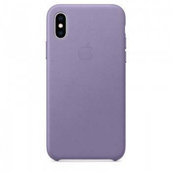 Capa para iPhone XS em pele - Lilás