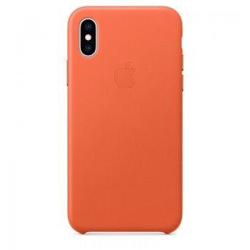 Capa para iPhone XS em pele - Pôr do Sol