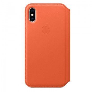 Capa Folio em pele para iPhone XS - Pôr do Sol