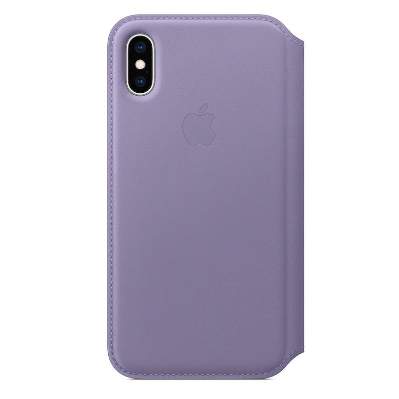 Capa Folio em pele para iPhone XS - Lilás