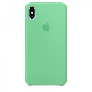 Capa para iPhone XS Max em silicone - Hortelã