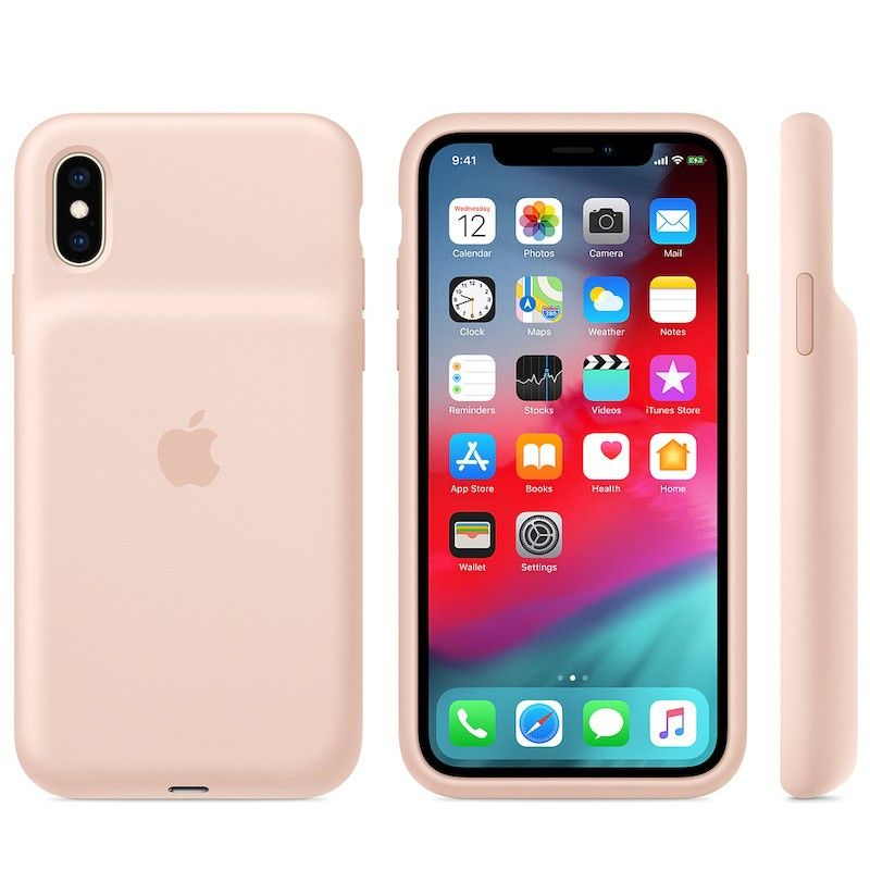 Smart Battery Case para iPhone XS - Rosa-areia