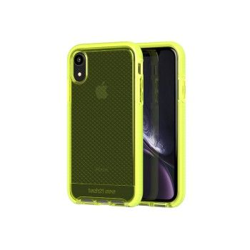 Capa Tech21 Evo Check para iPhone XR - Neon Yellow