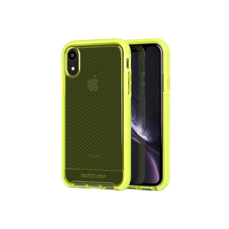 Capa Tech21 Evo Check para iPhone XR - Neon Yellow