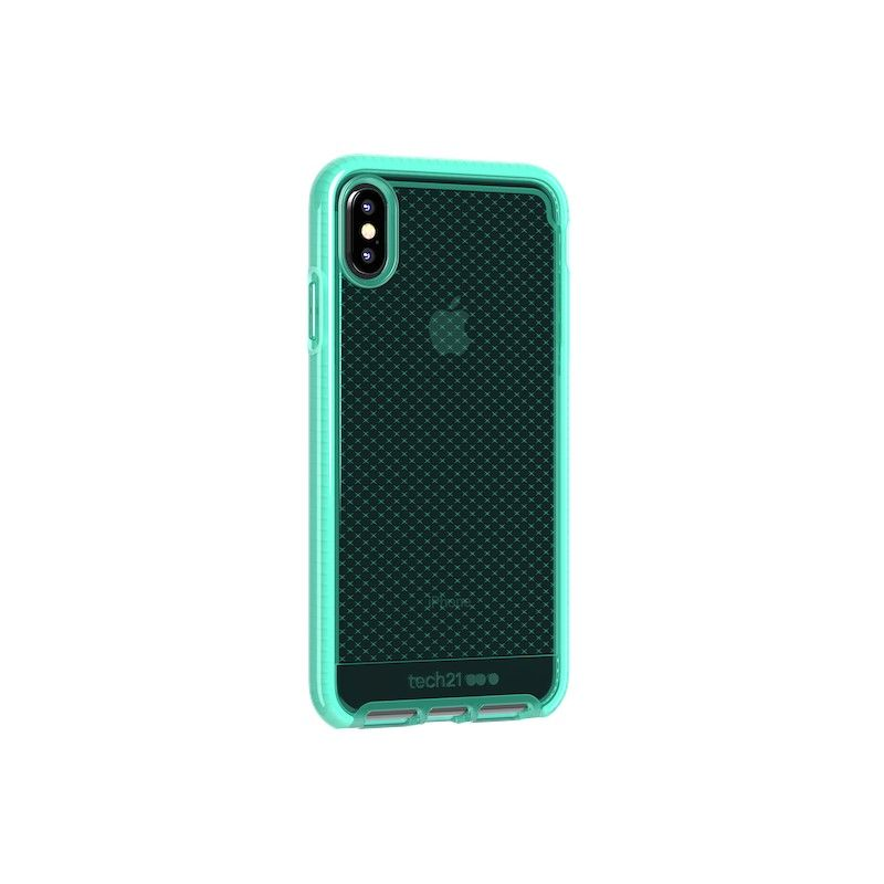 Capa Tech21 Evo Check para iPhone XS Max - Neon Aqua
