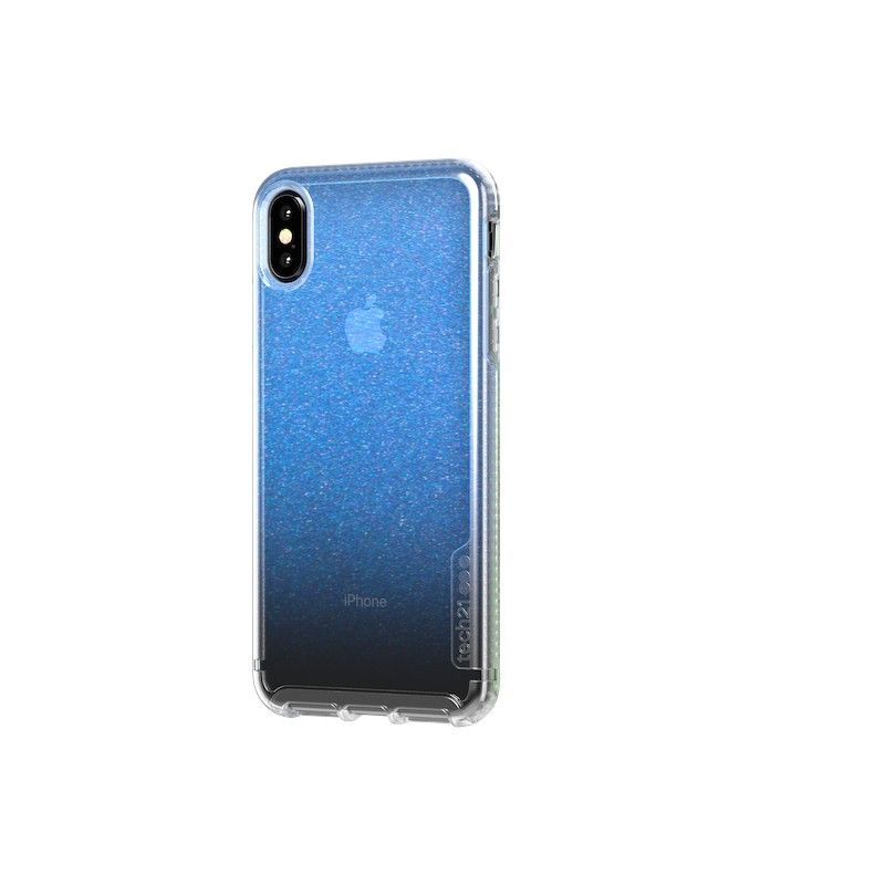 Capa Tech21 Pure Shimmer para iPhone XS Max - Azul