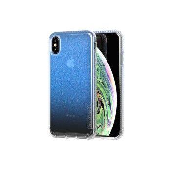 Capa Tech21 Pure Shimmer para iPhone XS Max - Azul