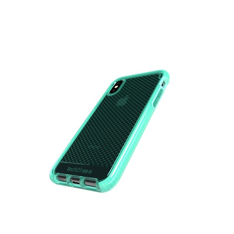Capa Tech21 Evo Check para iPhone XS - Neon Aqua