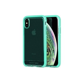 Capa Tech21 Evo Check para iPhone XS - Neon Aqua