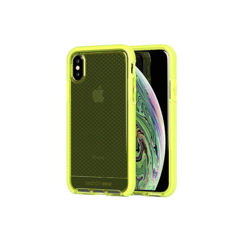 Capa Tech21 Evo Check para iPhone XS - Neon Yellow.