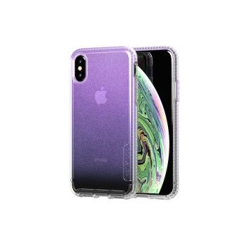 Capa Tech21 Pure Shimmer para iPhone XS - Rosa