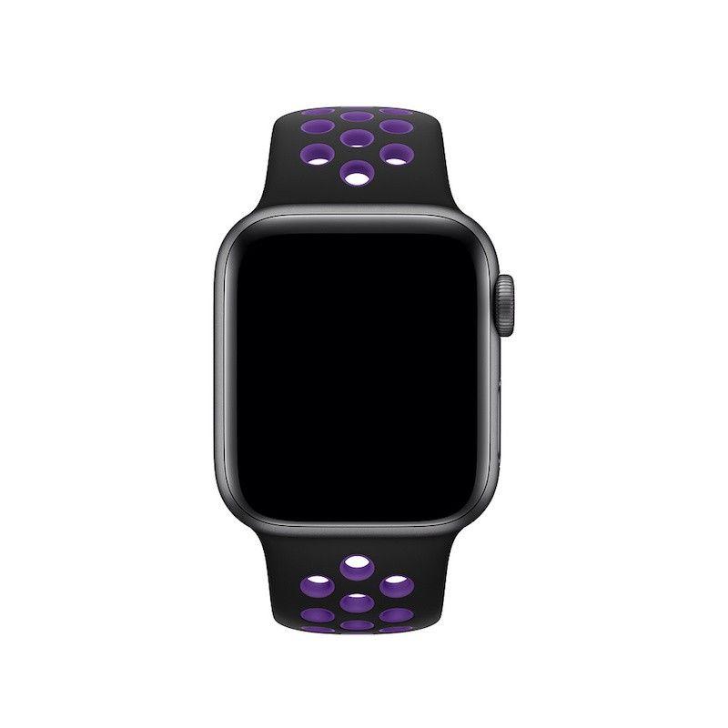 Bracelete desportiva Nike para Apple Watch (40/38 mm) - Preto/Hiper Uva