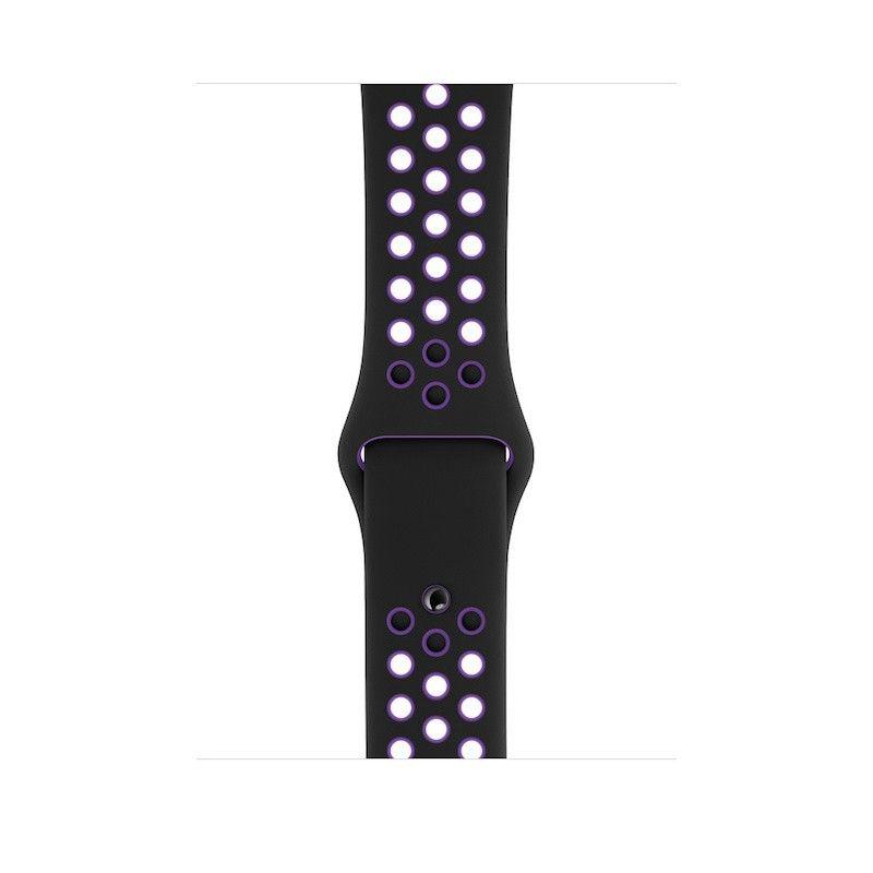 Bracelete desportiva Nike para Apple Watch (44/42 mm) - Preto/Hiper Uva