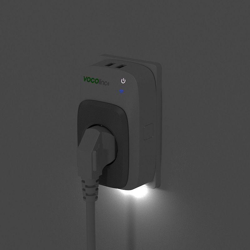 Tomada inteligente Vocolinc com duas portas USB - HomeKit