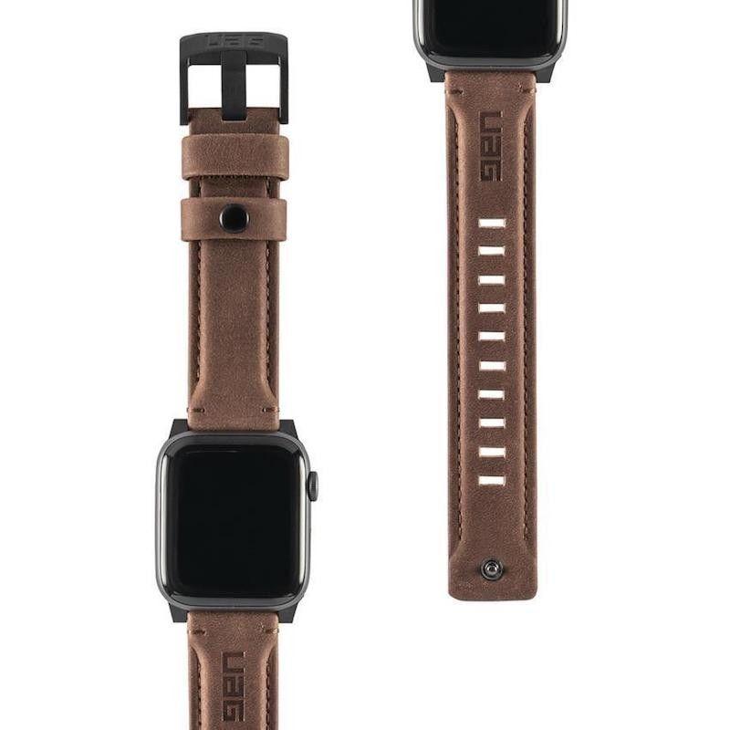 Bracelete para Apple Watch UAG Leather, 40/38mm - Castanho