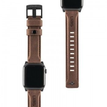 Bracelete para Apple Watch UAG Leather, 40/38mm - Castanho
