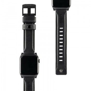Bracelete para Apple Watch UAG Leather, 44/42mm - Preto
