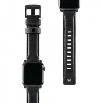Bracelete para Apple Watch UAG Leather, 44/42mm - Preto