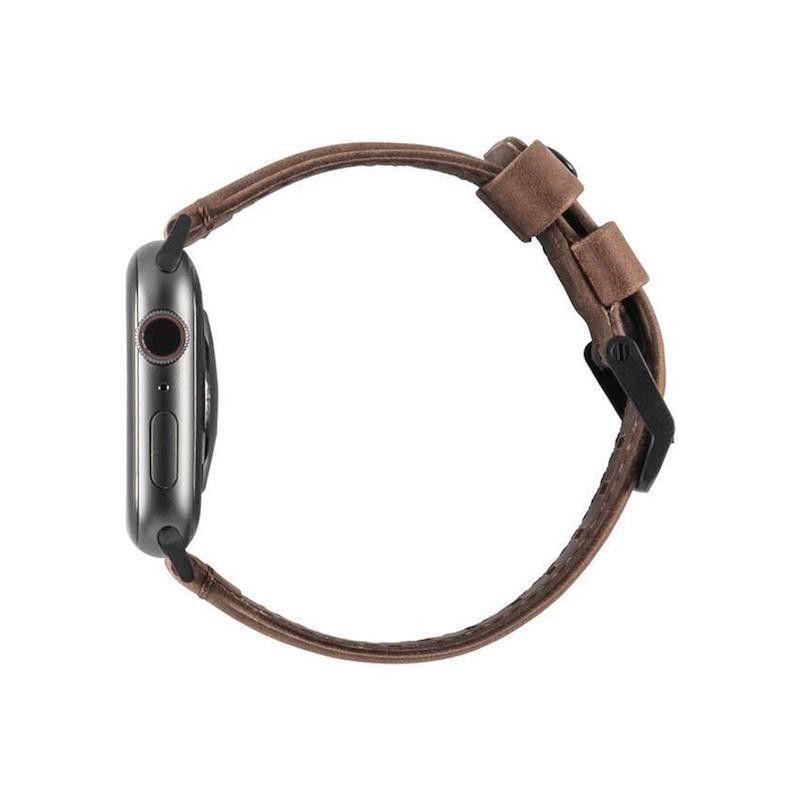 Bracelete para Apple Watch UAG Leather, 44/42mm - Castanho
