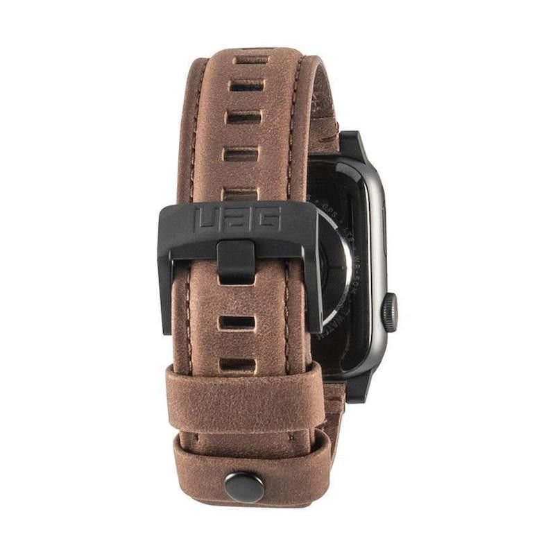 Bracelete para Apple Watch UAG Leather, 44/42mm - Castanho