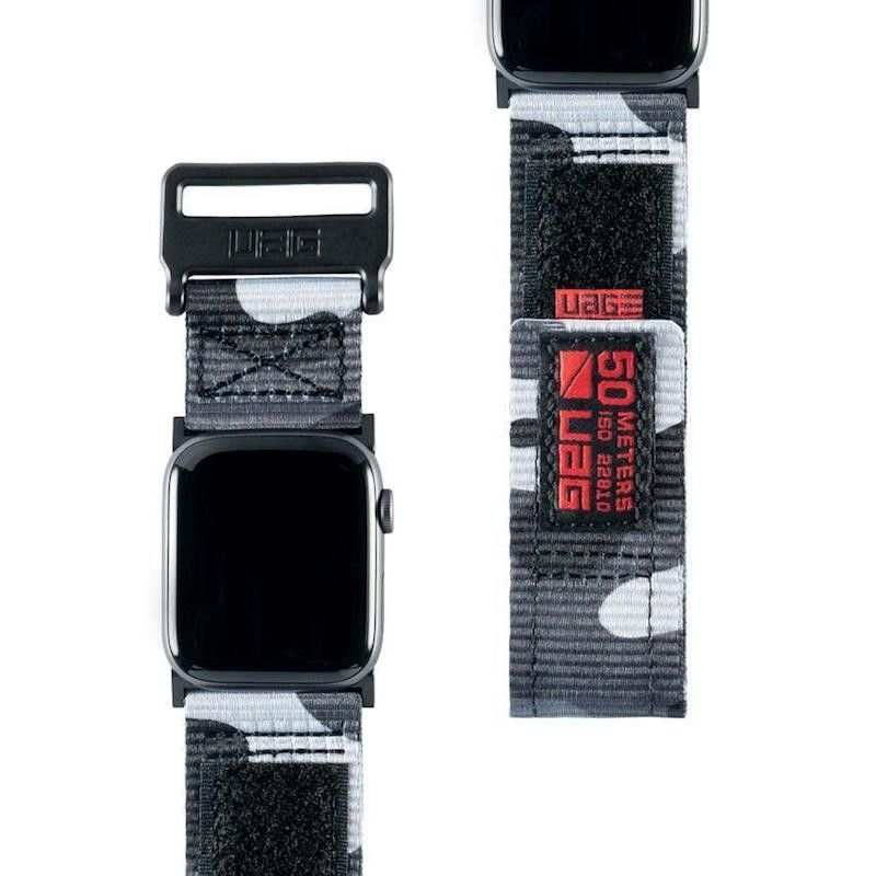 Bracelete para Apple Watch UAG Active, 42 a 45 mm - Midnight Camo