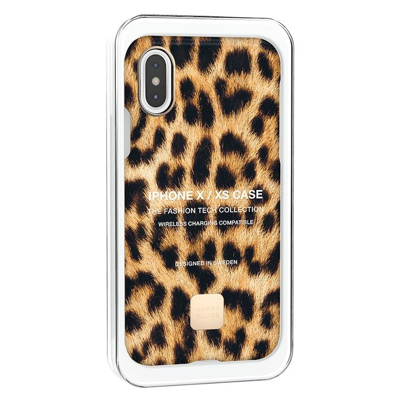 Capa para iPhone XS Happy Plugs - Leopardo