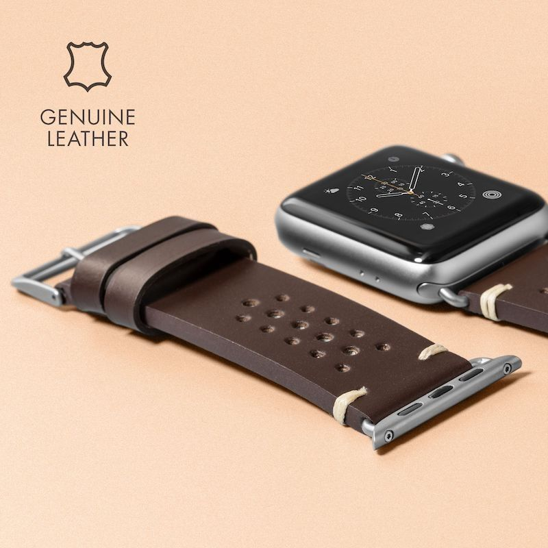 Bracelete para Apple Watch Laut Heritage, 44/42mm - Burgundy