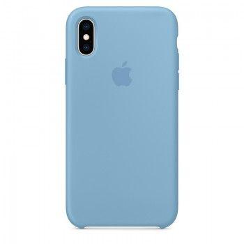 Capa para iPhone XS em silicone - Centárea Azul