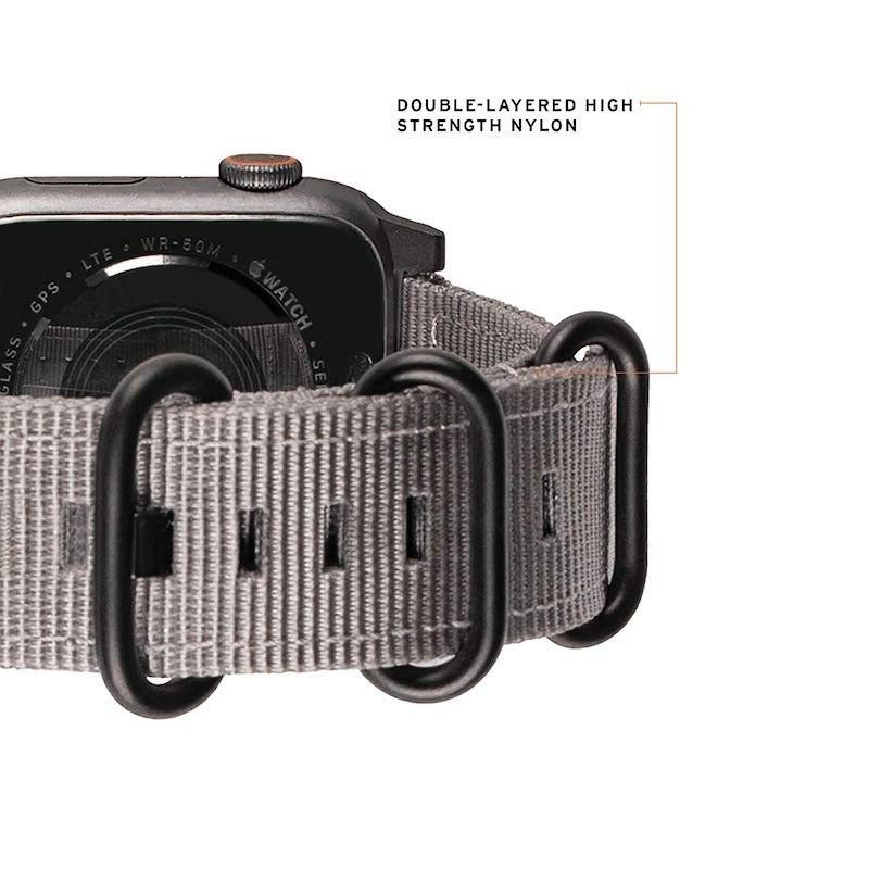 Bracelete para Apple Watch UAG Nato (44/42mm) - Cinzenta