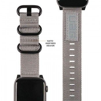 Bracelete para Apple Watch UAG Nato (40/38mm) - Cinzenta