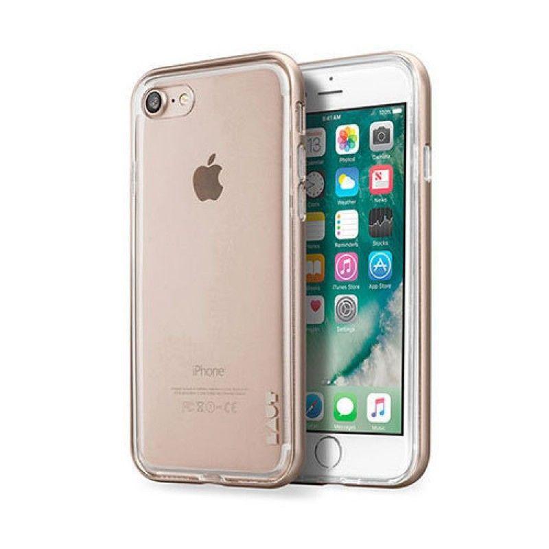 Capa ExoFrame de aluminio Laut iPhone 8 / 7 - Dourado