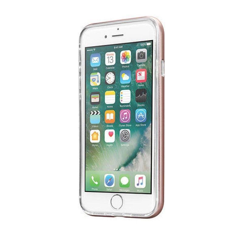 Capa ExoFrame de aluminio Laut iPhone 8 / 7 - Rosa Dourado